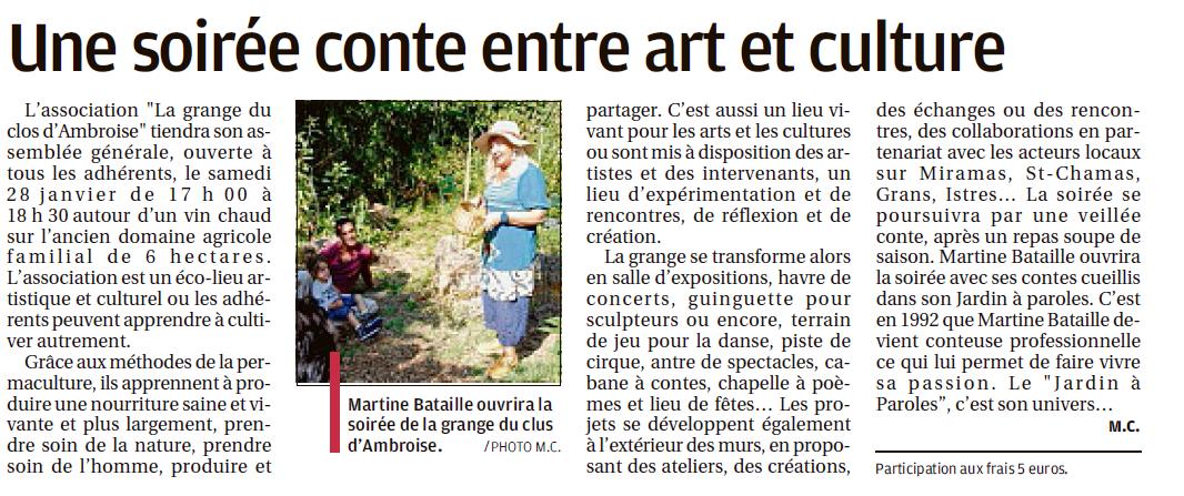 Article La Grange 25 janvier 2017