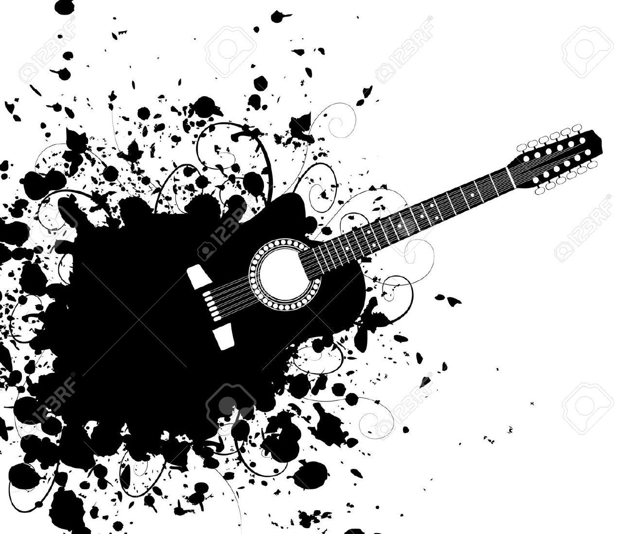 Guitare tache